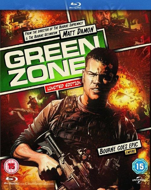 Green Zone - British Blu-Ray movie cover