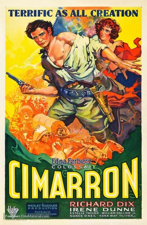 Cimarron - Theatrical movie poster