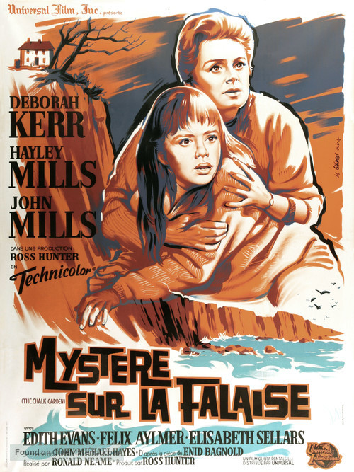 The Chalk Garden - French Movie Poster