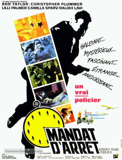 Nobody Runs Forever - French Movie Poster