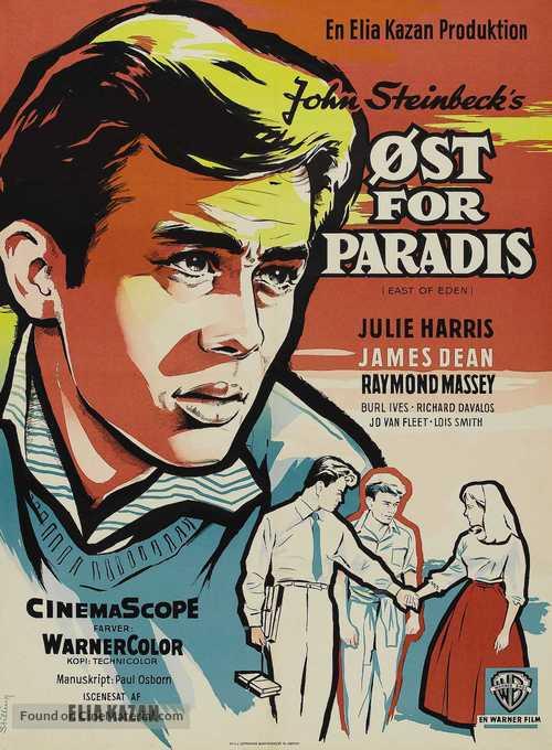 East of Eden - Danish Movie Poster