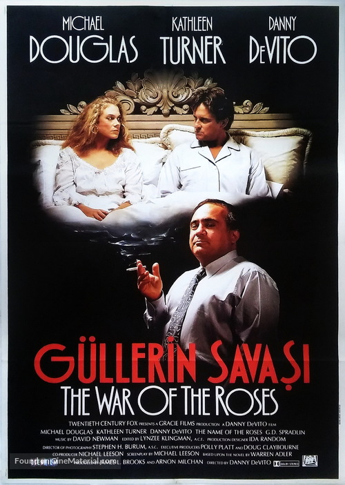 The War of the Roses - Turkish Movie Poster
