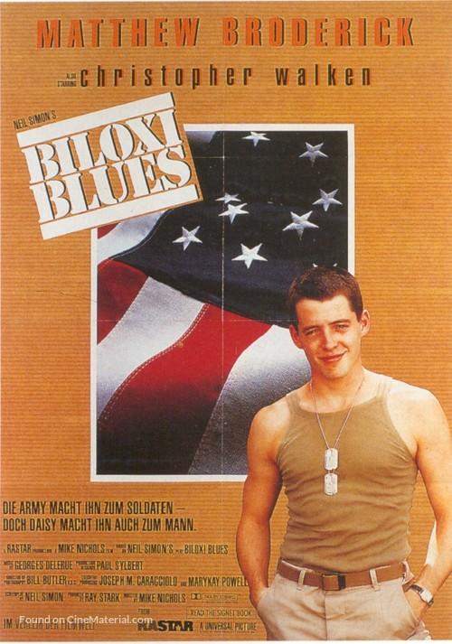 Biloxi Blues 1988 German Movie Poster