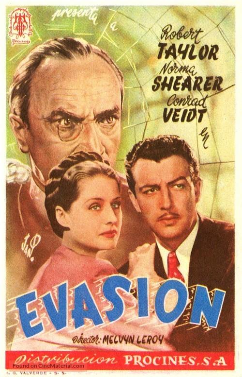 Escape - Spanish Movie Poster