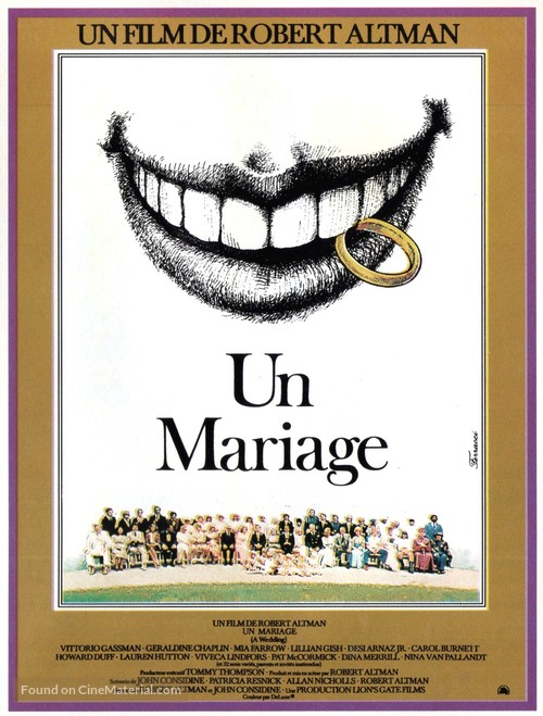 A Wedding - French Movie Poster