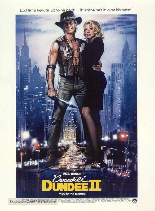 Crocodile Dundee Ii 1988 Movie Poster