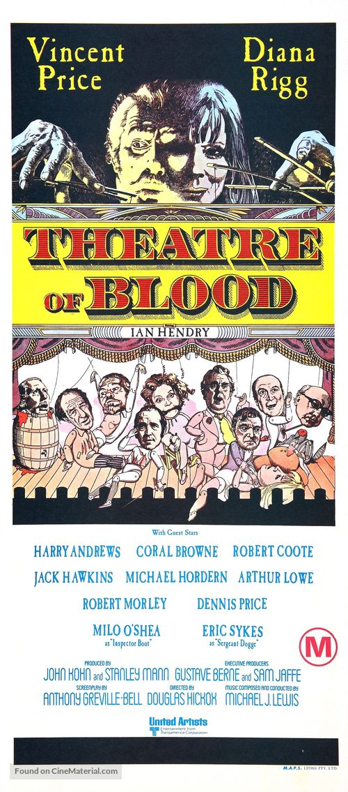 Theater of Blood - Australian Movie Poster