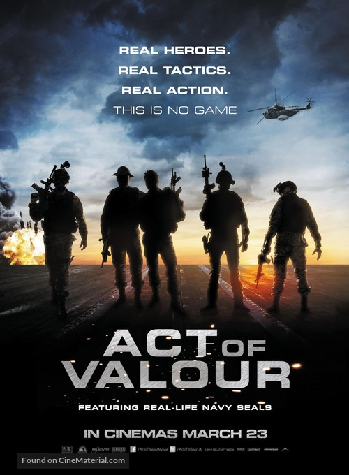 Act of Valor - British Movie Poster