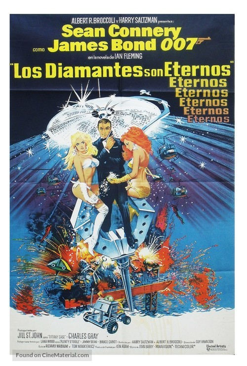 Diamonds Are Forever - Argentinian Movie Poster