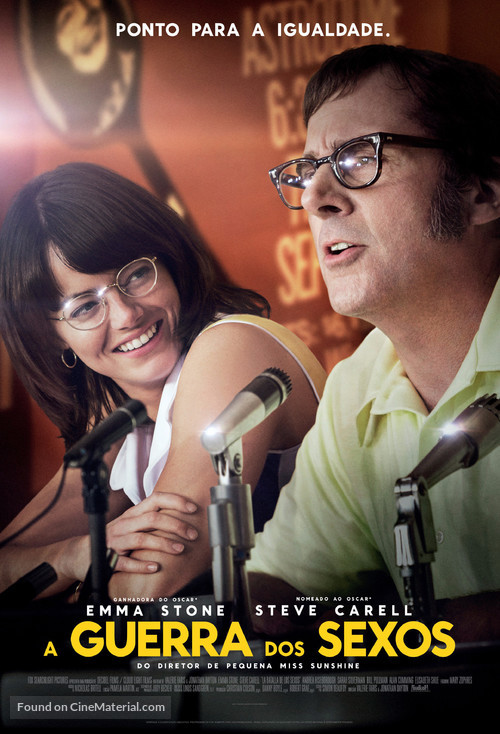 Battle of the Sexes - Brazilian Movie Poster