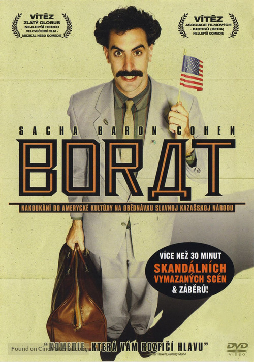 Borat: Cultural Learnings of America for Make Benefit Glorious Nation of Kazakhstan - Czech DVD cover
