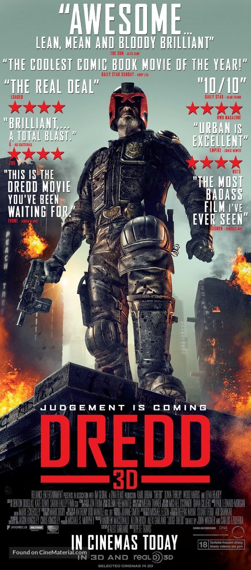 Dredd - British Movie Poster