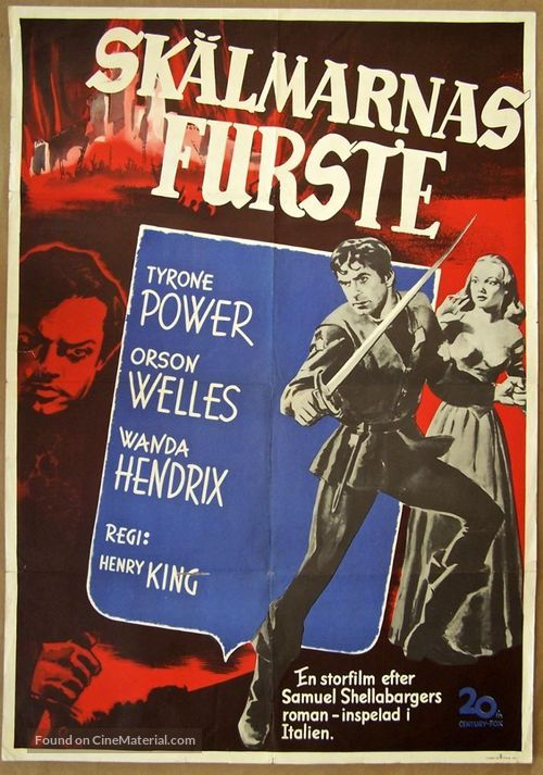 Prince of Foxes - Swedish Movie Poster