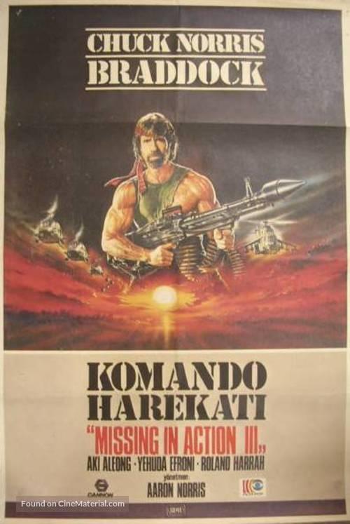 Braddock: Missing in Action III - Turkish Movie Poster