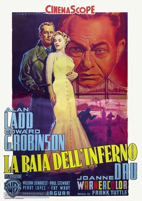 Hell on Frisco Bay - Italian Movie Poster