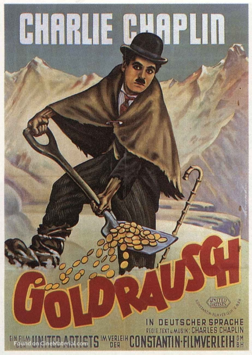 The Gold Rush - German Theatrical movie poster