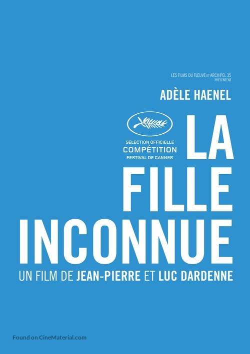 La fille inconnue - Belgian Movie Poster