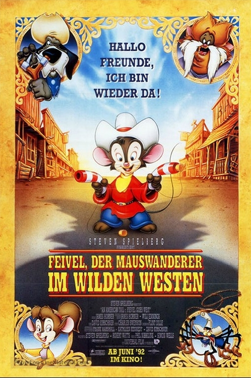 An American Tail: Fievel Goes West - German Movie Poster