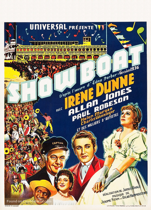 Show Boat - Belgian Movie Poster