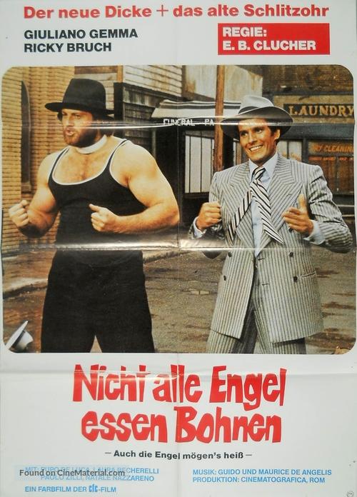 Anche gli angeli tirano di destro - German Movie Poster