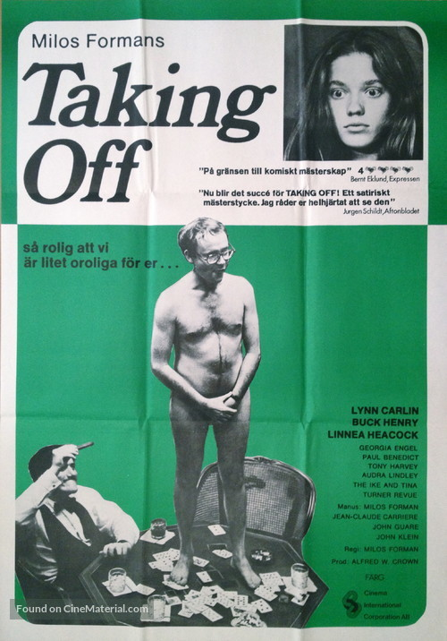 Taking Off - Swedish Movie Poster