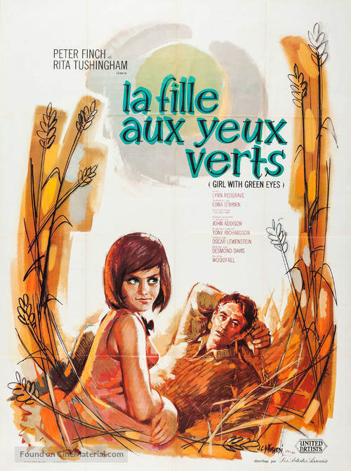Girl with Green Eyes - French Movie Poster