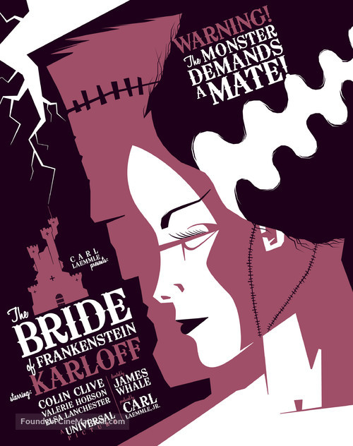 Bride of Frankenstein - Homage movie poster