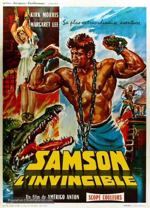 Sansone contro i pirati - French Movie Poster