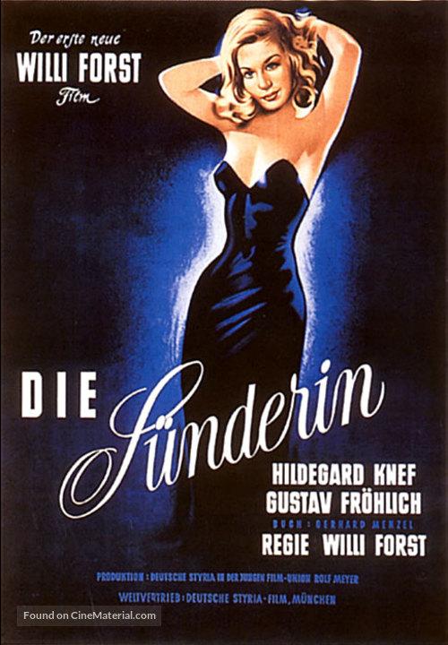 Sünderin, Die - German Movie Poster