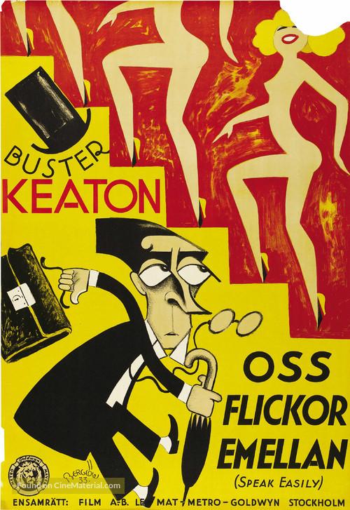 Speak Easily - Swedish Movie Poster