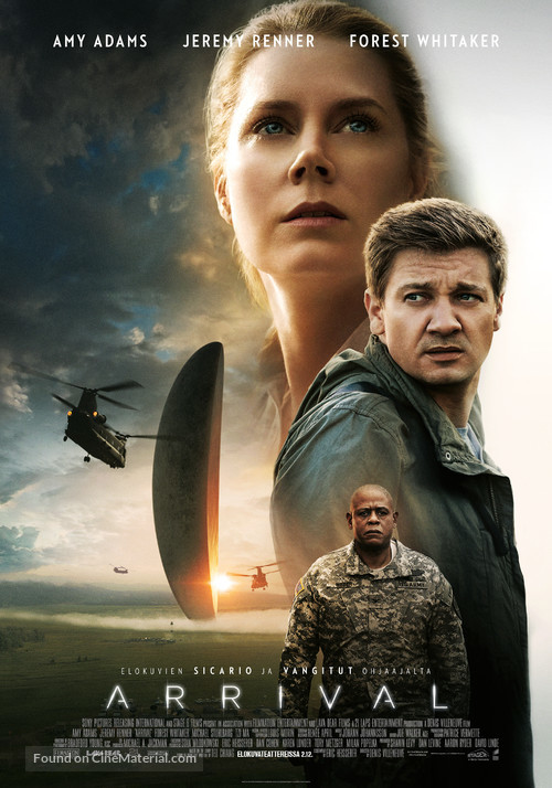 Arrival - Finnish Movie Poster