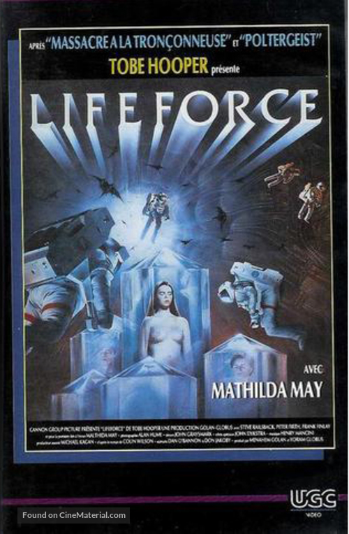 Lifeforce - French VHS movie cover