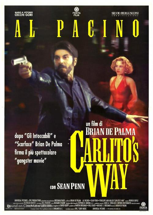 carlitos way italian theatrical poster
