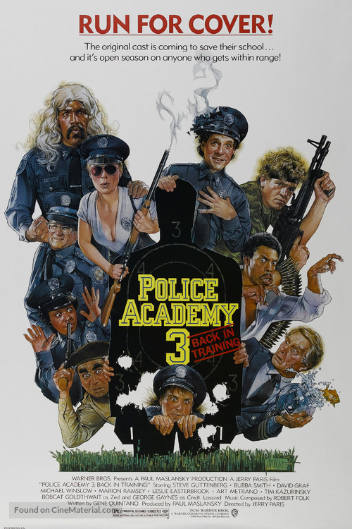 Police Academy 3: Back in Training - Movie Poster