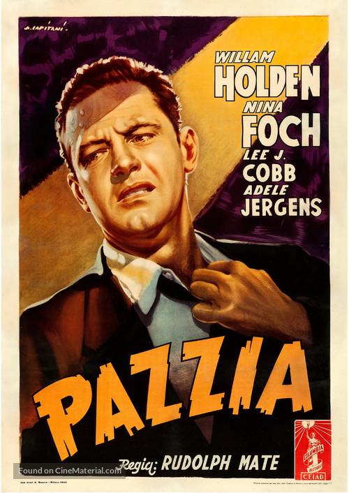 The Dark Past - Italian Movie Poster