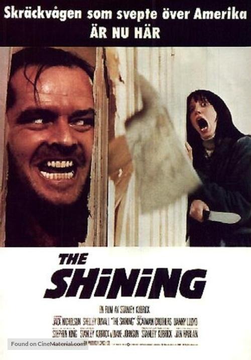 The Shining - Swedish Movie Poster