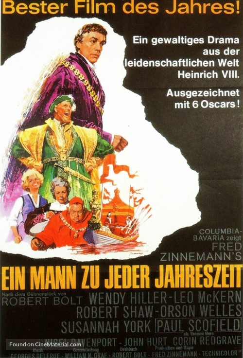 A Man for All Seasons - German Movie Poster