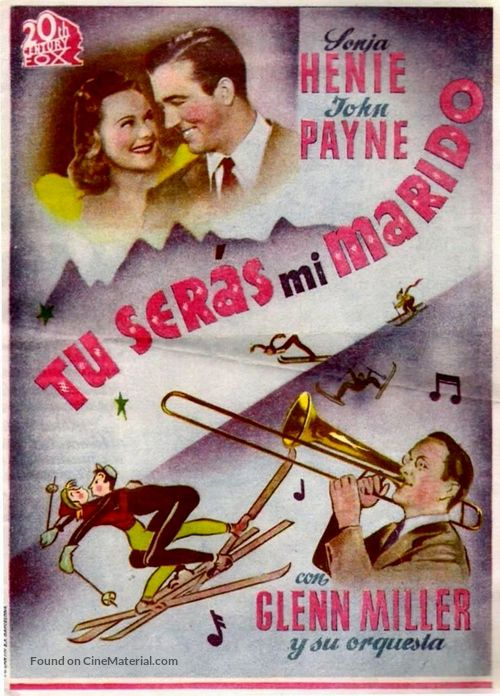 Sun Valley Serenade - Spanish Movie Poster