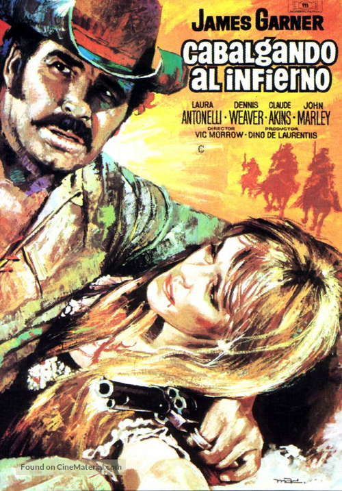 A Man Called Sledge - Spanish Movie Poster