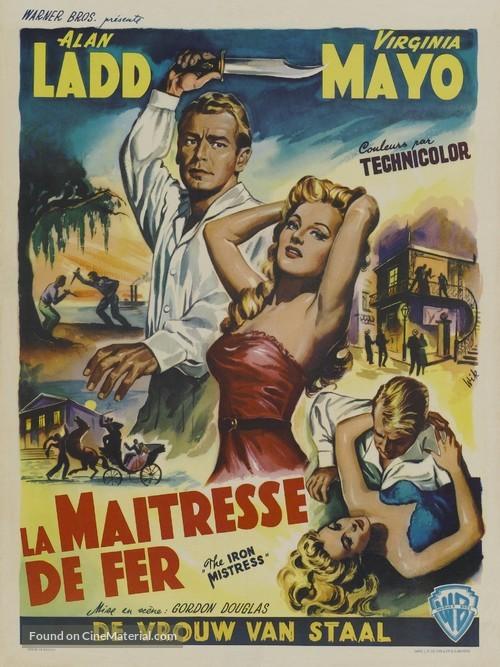 The Iron Mistress - Belgian Movie Poster