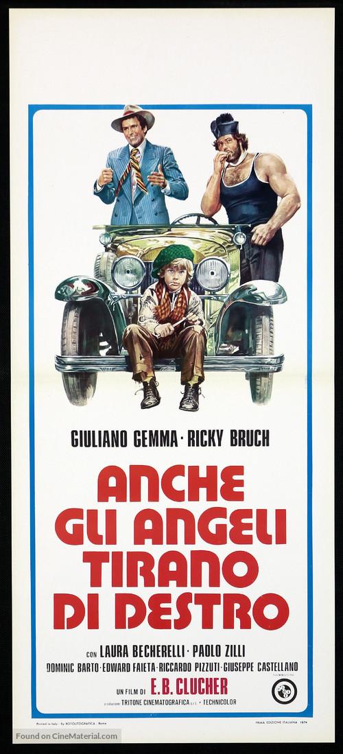 Anche gli angeli tirano di destro - Italian Movie Poster