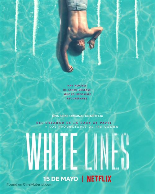 """""""White Lines"""" - Argentinian Movie Poster"""