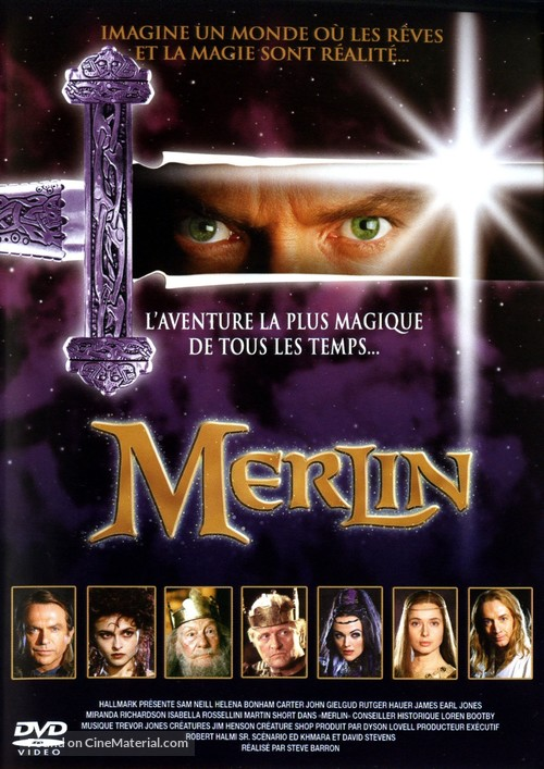 Merlin - French DVD movie cover