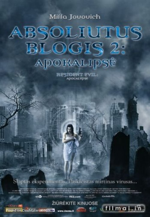 Resident Evil: Apocalypse - Lithuanian Movie Poster