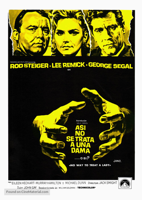No Way to Treat a Lady - Spanish Movie Poster