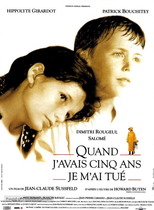Quand j'avais 5 ans je m'ai tué - French Movie Poster