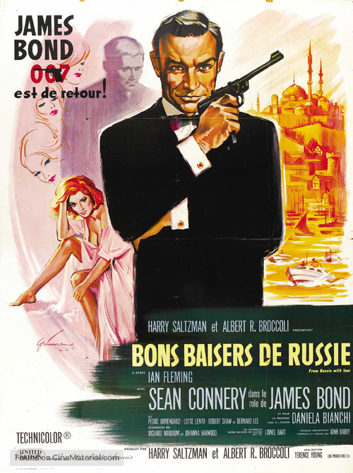 From Russia with Love - French Movie Poster