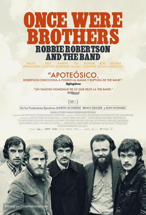 Once Were Brothers: Robbie Robertson and The Band - Spanish Movie Poster