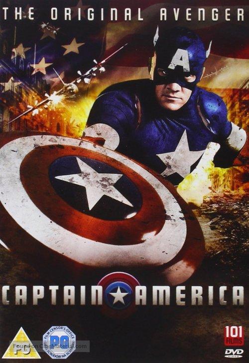 Captain America - British DVD movie cover