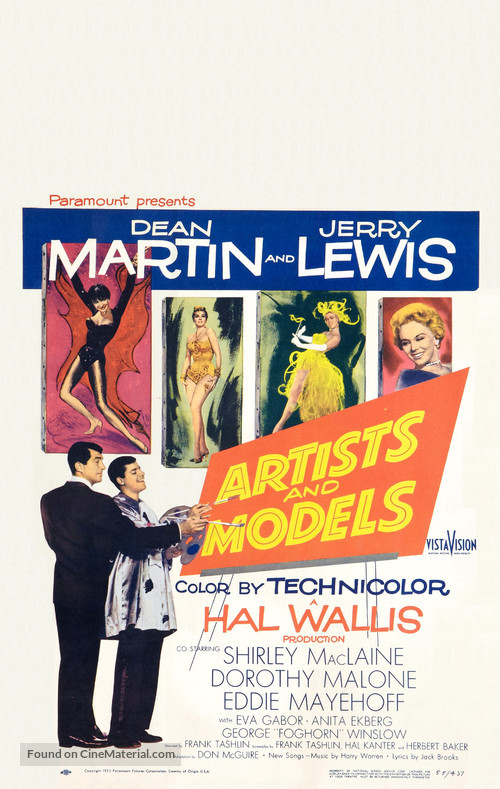 Artists and Models - Theatrical movie poster